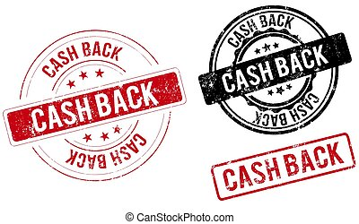 cash back stamp round isolated stamp square grunge sign