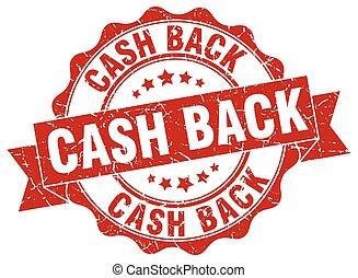 cash back stamp. sign. seal