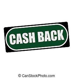 Cash back white wording on green background  black frame