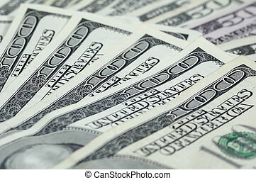 Cash Background - Photo of Hundred and Fifty Dollar Bills