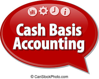 Cash Basis Accounting blank business diagram illustration