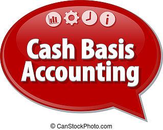 Cash Basis Accounting blank business diagram illustration