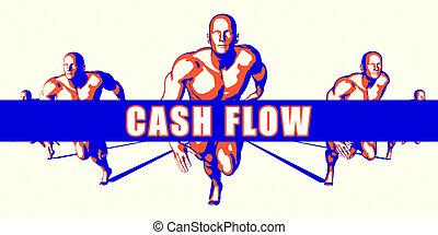 Cash flow as a Competition Concept Illustration Art