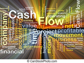 Cash flow background concept glowing