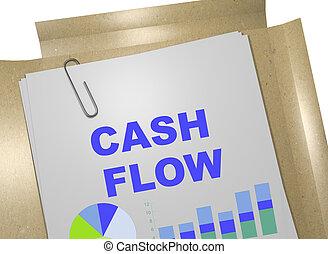 Cash Flow - business concept - 3D illustration of 'CASH...
