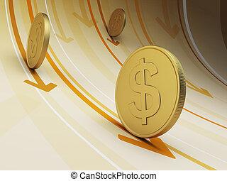 cash flow, business concept, 3d render
