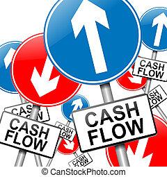 Cash flow concept. - Illustration depicting many roadsigns ...
