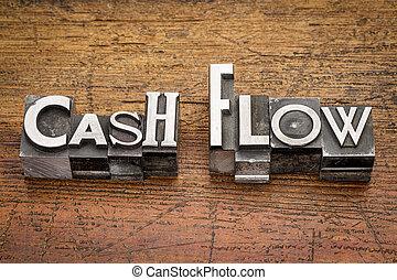 cash flow in metal type