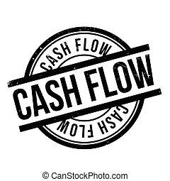Cash Flow rubber stamp. Grunge design with dust scratches....