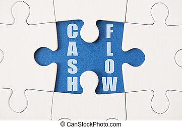 Cash flow solution - Cash flow jigsaw piece heading