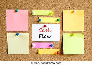 Cash flow text concept - Cash flow business text concept...