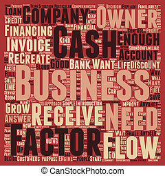 Cash Flow The Life Blood Of Every Business text background ...