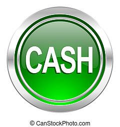 cash icon, green button