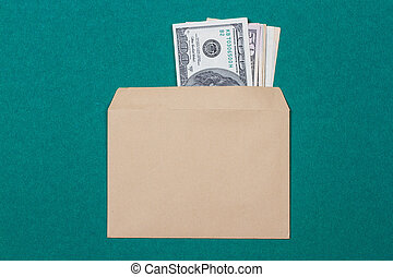 cash in an envelope
