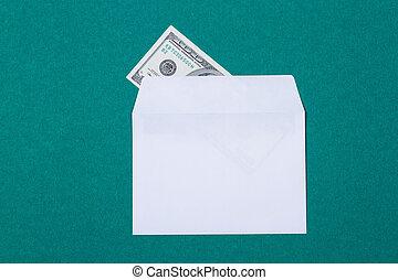 cash in an envelope
