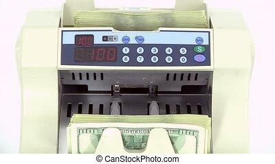 Cash money counting machine.