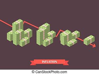 Cash money inflation concept