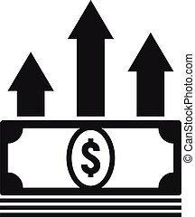 Cash money loan icon, simple style