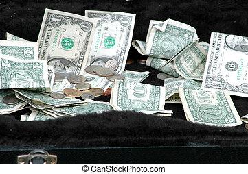 Cash money luggage.