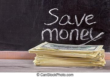 Cash money savings.