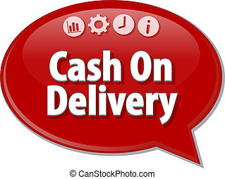 Cash On Delivery Business term speech bubble illustration