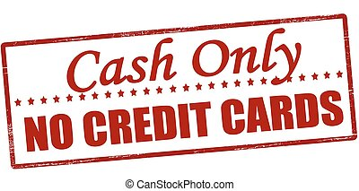 Cash only - Stamp with text cash only inside, vector...