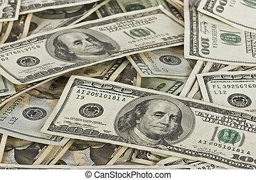 Cash Pile - A pile of cash savings