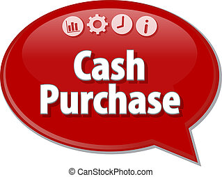Cash Purchase  Business term speech bubble illustration