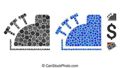 Cash Register Composition Icon of Circle Dots - Cash ...