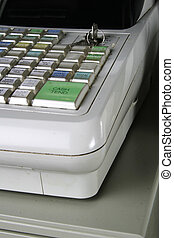 Well used cash register.