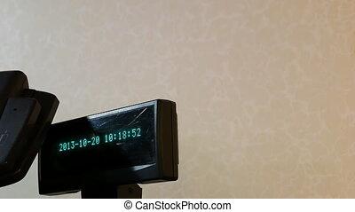 Cash register display - Cash register black electronic...