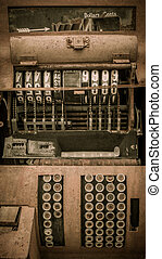 Cash register Jerome Arizona Ghost Town - Cash register in...
