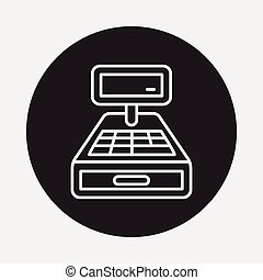 Cash register line icon