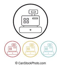Cash register line icon