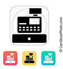 Cash register machine icon.