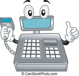 Cash Register Mascot - Mascot Illustration Featuring a Cash...