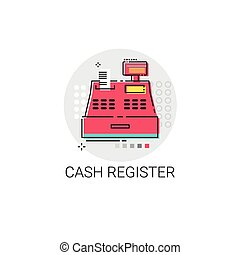 Cash Register Retail Shop Icon