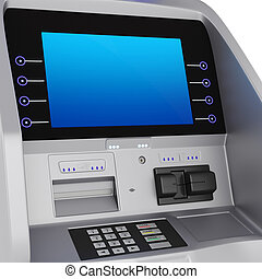 Cash register - Display and keyboard set terminal. ATM for...
