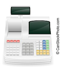 cash register stock vector illustration