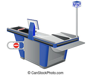 cash register terminal vector illustration