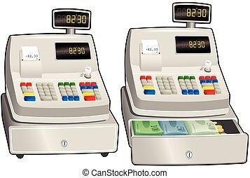 Cash register till.eps