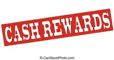 Cash rewards - Stamp with text cash rewards inside, vector...