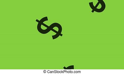Cash signs falling background