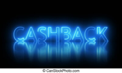 Cashback text with visual effect of electricity and...