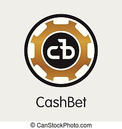 Cashbet Cryptographic Currency - Vector Trading Sign. - ...