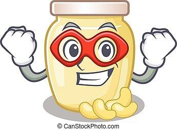 Cashew Butter 30 - A cartoon concept of cashew butter ...