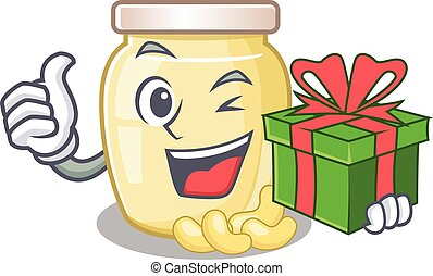 Cashew Butter 59 - Happy cashew butter character having a ...