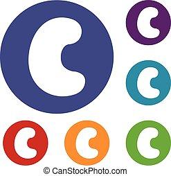 Cashew icons set
