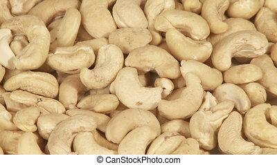 Cashew nuts close-up   - Cashew nuts background close-up