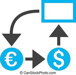 Cashflow Flat Vector Icon